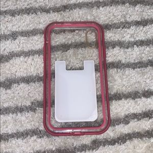 pink lifeproof XR phone case with/wo hone wallet